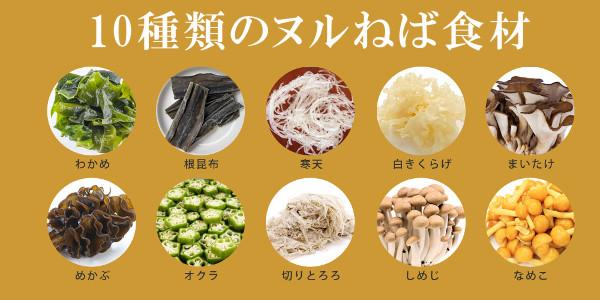 10種類の食材毎日ヌルねば